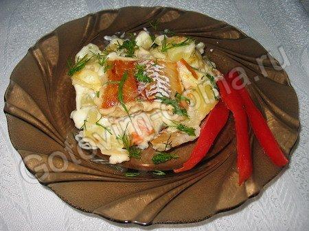 рецепт рыбы с овощами запеченной в духовке фото рецепт #15